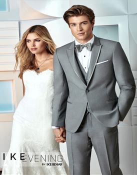 Ike Behar Chelsea Light Grey Tuxedo