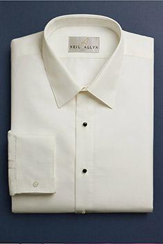 Ivory Microfiber Laydown Collar